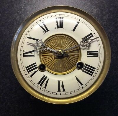 Untested Vienna Springer Clock Movement And Dial