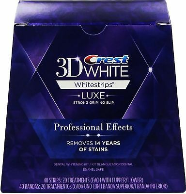 Crest3D Professional Effects Teeth Whitening Whitestrips 20 Pouches = 40 Strip
