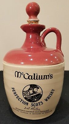 VINTAGE McCALLUM'S PERFECTION SCOTS WHISKY STONEWARE FLAGON/JUG