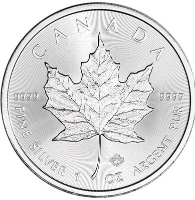 2019 $5 Silver Canadian Maple Leaf 1 oz BU Free Shipping