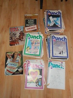 Job lot of 85 vintage classic PUNCH MAGAZINES from 1977 1978 1979 1980 1981 1982