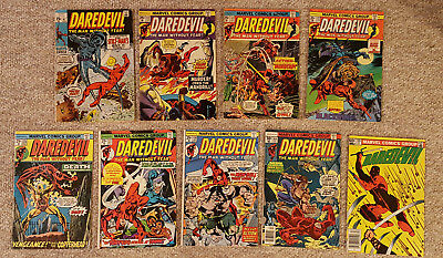 Daredevil Comics - Lot of 9 from 1970 to 1982
