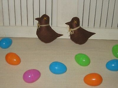 Handmade Fabric Bowl Filler Chocolate Easter Peeps Set Of 2