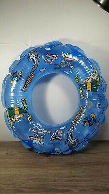 Vintage Looney Tunes Swim Float 1989 Bugs Bunny, Daffy Duck, Porky Pig