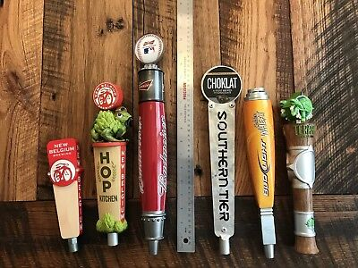 Lot Of 6 Craft And Domestic Beer Tap Handles