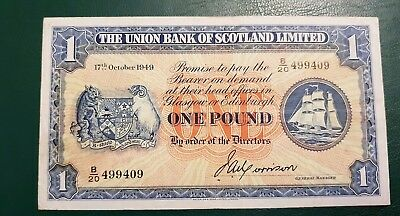 Old Scotland Banknote..