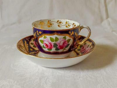 ANTIQUE EARLY 19TH CENTURY SPODE PORCELAIN CUP AND SAUCER c1820