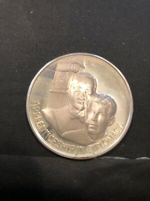 """Timeless Classic """"Apprenticeship In Diplomacy"""" Legacy Of JFK Silver Medal Free S"""