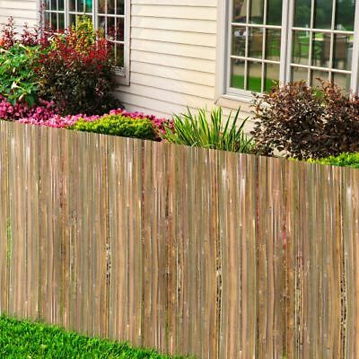 Multi Size Bamboo Fence Slat Screening Panel Screen Privacy Roll Garden Fencing