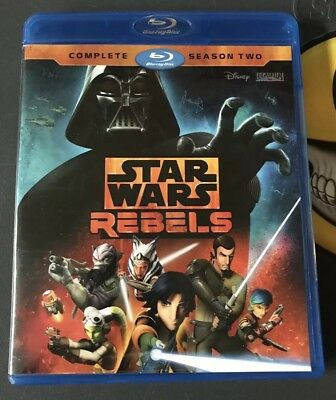 Star Wars Rebels Series Complete Season Two 2 Blu-Ray DVD 3 Disc Set NEW! Bluray