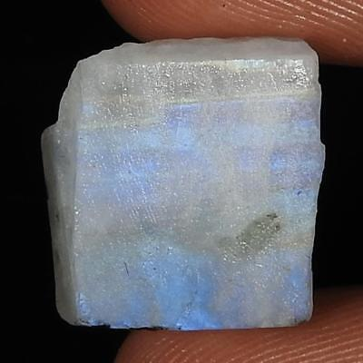 16.75Cts.A+ 100% Natural Rainbow Moonstone Rough Fancy Cab A+ Loose Gemstones