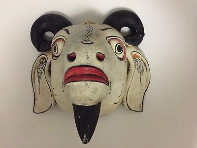 Vintage Balinese Goat or Ram Mask - circa late 1970's in same collection