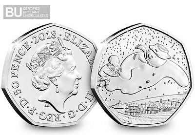 2018 Royal Mint The Snowman BUNC 50p Fifty Pence Coin Certified Official Release