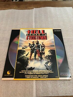 As Is 1987 Hell Comes To Frogtown Laserdisc Horror Rated R Rodney Piper