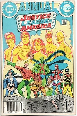 Justice League Of America Annual #2 / 1st App Vibe Gypsy Steel / Comic DC 1984