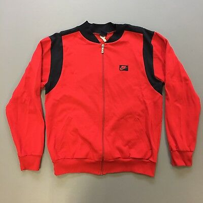 Vintage Retro Nike Zip-up Track Top - Red /Black - Size M - VGC 80's 90's (?)