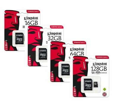 Kingston Micro Sd  16 Gb 32 Gb 64 Gb 128Gb Class 4 10 Microsd Scheda Memoria