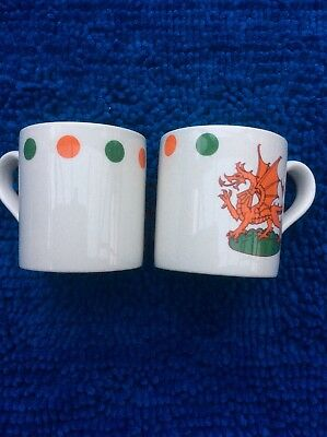 Investiture of HRH the Prince of Wales Prince Charles 1969 Adams Mug....x 2...