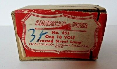 Gilbert American Flyer #451 Frosted Street Lamp Mint/Sealed in OB