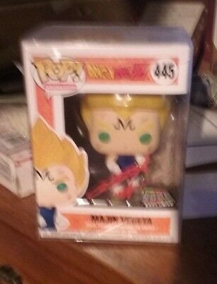 Funko Pop Majin Vegeta Dragonball Z 2018 NYCC Over9000.com Exclusive Signed Case