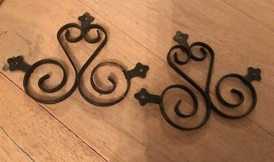 Antique Victorian Wrought Iron Wall Hangings Set