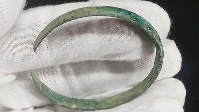 "Ancient Celtic Child's 2"" Bronze Bracelet Bangel from Britain c.1000 BC-500 BC!"