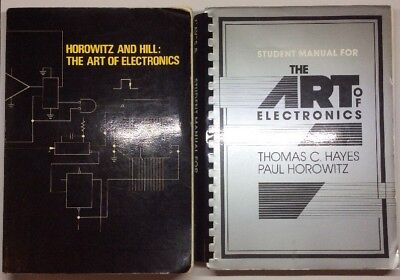 """""""The Art of Electronics"""" by Horowitz and Hill + Student Manual - Paperback 1986"""