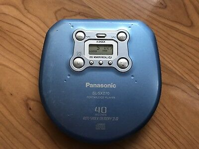 Panasonic Portable CD Player SL-SX270 40 Sec Anti-Shock 3.0. Funktioniert