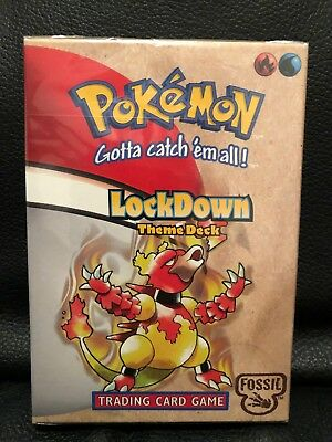 BRAND NEW. VERY RARE. Pokemon LockDown Fossil Theme Deck Trading Cards. SEALED!