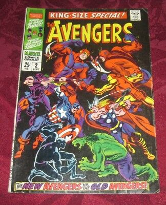 Avengers King-Size Special #2  Marvel Comics Silver Age High Grade Nice!!