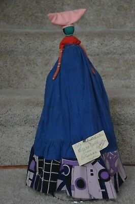 """Vintage Colorful Authentic Handmade Herero Doll ~ 18"""" Tall ~ Very Unique!"""