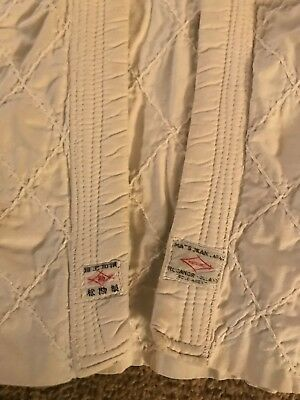 Vintage Child's Japanese Thick Cotton Embroidered Fabric Jacket Short Kimono