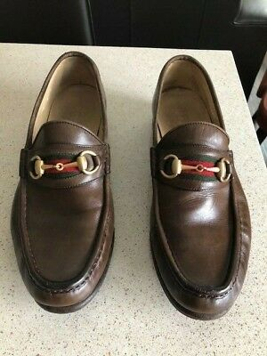 Men's Gucci brown loafers 9 D US