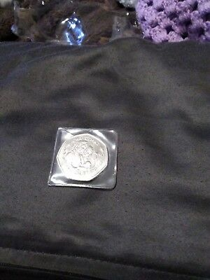 1990 Gibraltar 50p Christmas Coin  Very Scarce UNC Madonna And Child