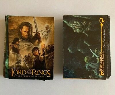 Lord of the Rings Return of the King - Topps Trading Cards - Lot of 95