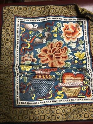 Chinese Old silk embroidery