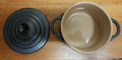 Le creuset casserole O7.05 individual portion Small grey / black with lid