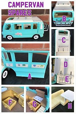 Sylvanian families Camper van Spares Calico Critters Green RV Accessories