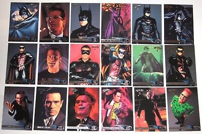 1995 FLEER ULTRA BATMAN FOREVER 120 CARD complete SET  Clooney Jim Carrey Kidman