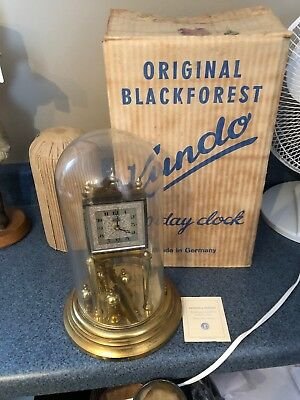 NEW OLD STOCK! Mint! Vintage Kundo ANNIVERSARY 400 Day Black Forest Mantle Clock