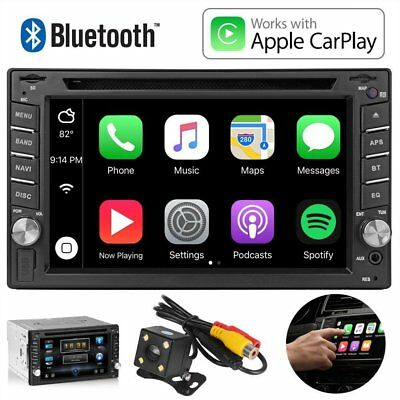 """6.2"""" DVD CD Player Bluetooth Touchscreen Car Stereo USB SD Rear Camera For Handy"""