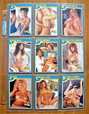 Lot of 12 1994 Vintage Risque'  Adult Actress Trading Cards - Rare - Mint