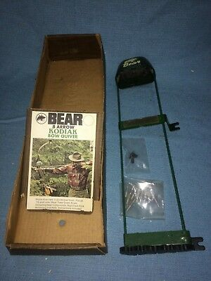 "Vintage 8 Arrow ""Kodiak"" Bow Quiver by Bear Archery #3835 w/ Original Box~Unused"