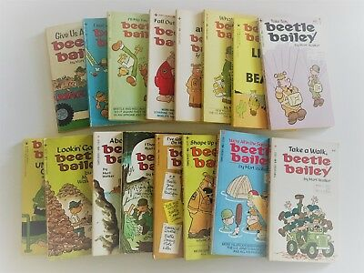 Vintage Beetle Bailey Book Collection of 16 Books