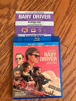 Baby Driver Blu-Ray Case And Unused Digital Code NO DISCS