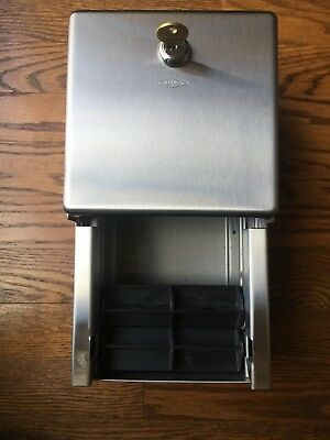 Used Bobrick B-2888 Toilet Paper Dispenser With Key