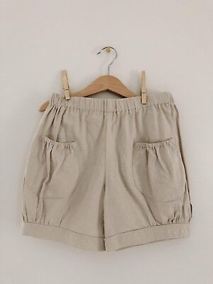 Hannah Kate Girls size 12 Khaki Bubble Pocket Shorts EUC