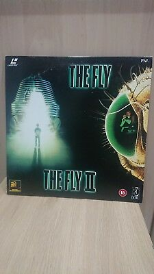 2x VINTAGE LASERDISC   THE  FLY  &  THE  FLY  2      IN ONE SPECIAL COVER