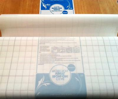 Iron on clear vinyl fusible laminate for fabric bags 43cm wide by the metre