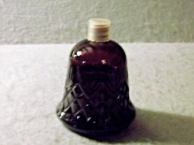 AVON CRYSTALSONG TIMELESS ULTRA COLOGNE RED BELL DECANTER BOTTOM Vintage